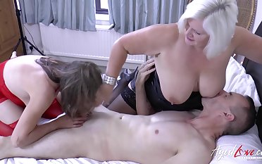 English mature whore Lacey Starr is keep a weather eye open for wild MFF threesome