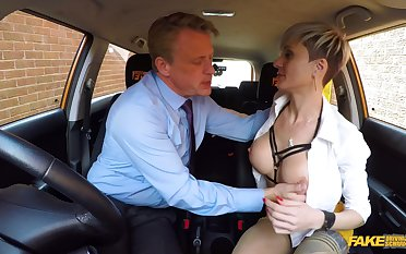 Horny matured with big tits, nasty fuck with the driving instructor