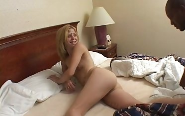 White slut enjoys procurement used and mistreated by a black dude- Leah Luv