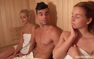 www.PornZin.com - this group session up place in a sauna