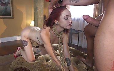 Video of slutty girlfriend Lola Fae enjoying having a rough sex