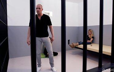 FFM threesome in the prison with sluts Cynthia and Jimena Lago