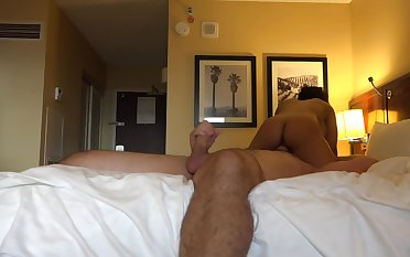 Luna Dignitary rides his dick upon a homemade hotel sex work together a rob