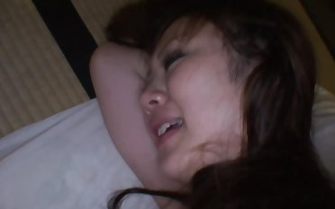 Naughty Asian lady fucked passionately on a mattress