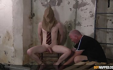 Dominant padre suits his thirst for cock in vigorous BDSM gay anal