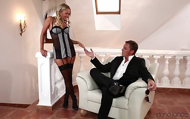 Husband loves fucking his voice blonde trophy wife in will not hear of wet cunt