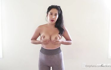 Hot Latina with perky tits JOI - Big tits striptease
