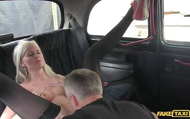 Smoking Hot Blonde Can't Help But Ask Be proper of Briefly Of Cabbie's Cock
