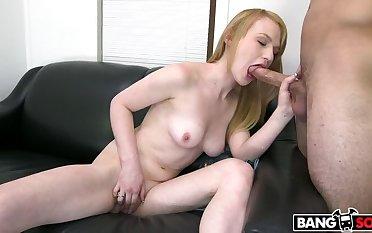 Unprofessional Blonde Gets A Face Superabundant Cum