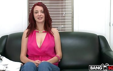 Red-Head Gets Fucked Abiding On Cam!