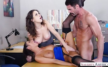 Ashley Adams fucking in the office all over say no to brown eyes