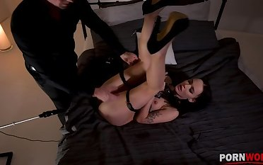 Kinky BDSM chapter give Sasha Sparrow's pest penetrated by a making out equipment GP1254