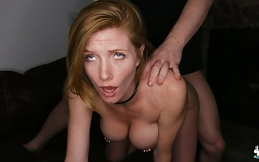 Sexy Redhead With Pierced Nipples Enjoys Rough Sex