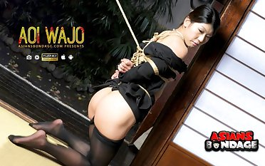 Japanese housewife Aoi Wajo is come by BDSM, uncensored