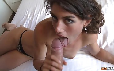 Naughty chick Julia Roca is flavour of the month up plus fucked hard by hot blooded stranger
