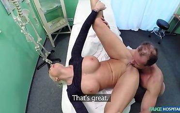 Dirty doctor fucks shove around porn star
