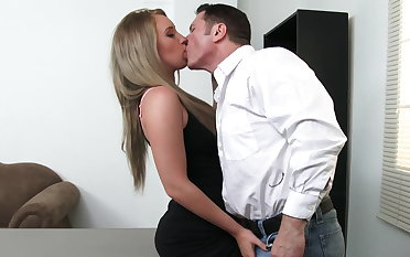 Sexy employee Harley Jade will do anything be advantageous to raise