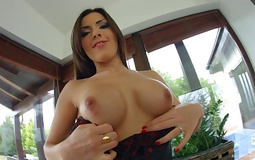 Hot ass pornstar Cecilia De Lys craves for balls deep anal sex