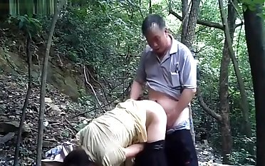 Outdoor father shacking up