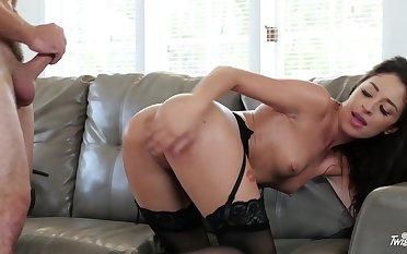 Horseshit craving Latian Cameron Canela fucks