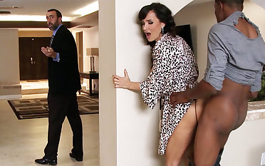 Spouse returned when housewife wake trace BIG BLACK COCK