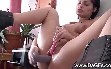 Anal beads and squirting solo