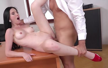 Super intense sex with the secretary for the horny boss