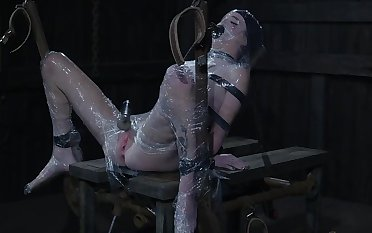 BDSM fetish bondage session has Stephie Staar's pussy all creamy