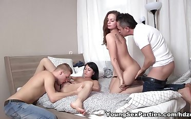 Strip games and foursome fucking