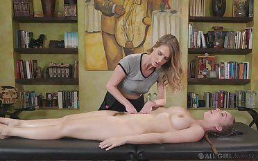 At near slay rub elbows with massage Cadence Lux gets say no to pussy eaten at the end of one's tether say no to masseur