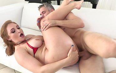 Sloppy cocksucking leads up alongside a vigorous ass shacking up