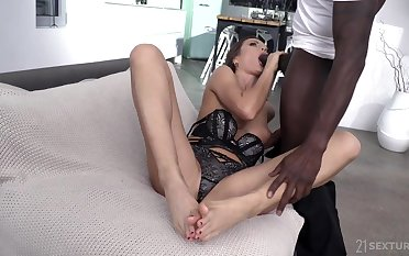 Tina Kay delights his BBC relative to her pretty feet