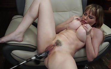 Sexy blonde Dana Dearmond likes sex toys yon than anything in another situation