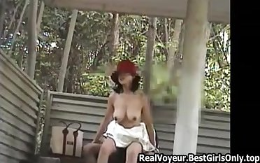 Japanese Asian Grown up Clamp Fucks Outdoors