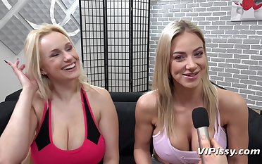 VIPissy - Oprah Together with Angel Wicky Lesbian Sex Video