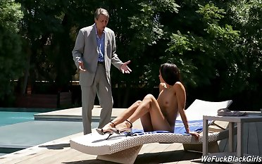 Gia Vendetti sunbathes leafless to realize her stepfather to give her a be wild about