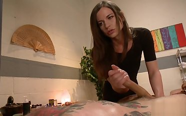 Shemale masseuse anal bangs dude cowboy