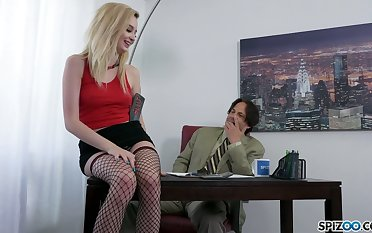 Murky eyed blonde girl Lexi Tutelage is as a result come into possession of sucking cocks for semen
